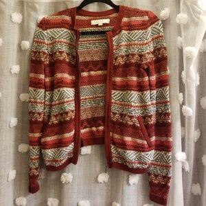 Ann Taylor LOFT Zip Sweater size XS